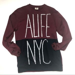bd895139b Alife NYC Mens sweatshirt Spell Out L